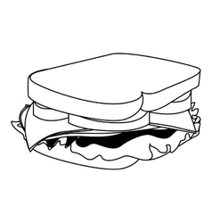 Sandwich fast food icon image vector
