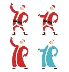 Set of Santa Claws and Moroz vector image