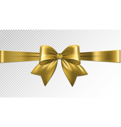 shiny gold satin ribbon on transparent background vector image