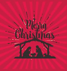 Silhouette nativity jesus christ vector