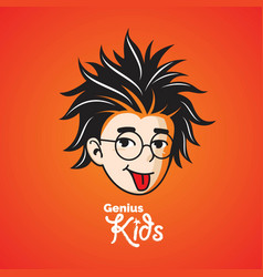 Smart or genius kid vector