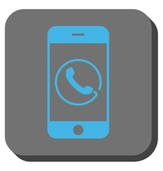 Smartphone Phone Rounded Square Button vector
