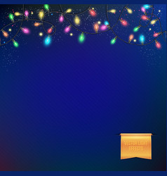 sparkling colorful festive garland vector image