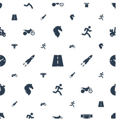 Speed icons pattern seamless white background vector