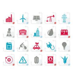 stylized power energy and electricity source icon vector image