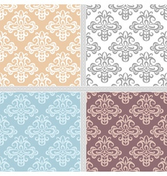 Summer seamless ethnic pattern collection vector image