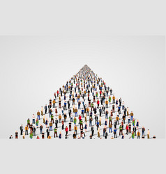 template with a crowd of business people standing vector image