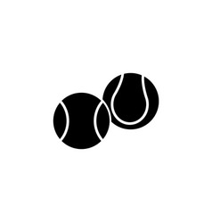 Tennis ball icon black vector