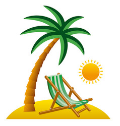 tropical resort icon vector image