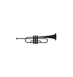trumpet instrument graphic design template vector image