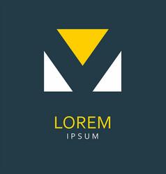 v letter logo icon vector image