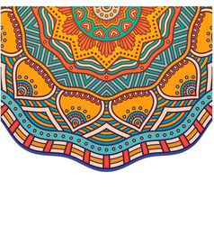 vintage mandala orange flower design image vector image