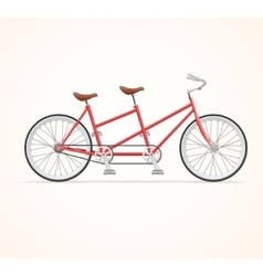 Vintage Tandem Bicycle vector image