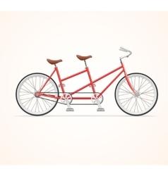 Vintage tandem bicycle vector