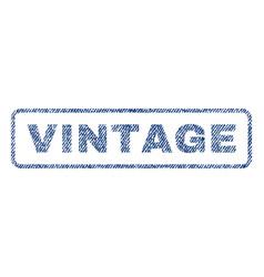 Vintage textile stamp vector