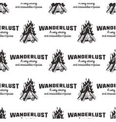 wanderlust pattern design - outdoors adventure vector image