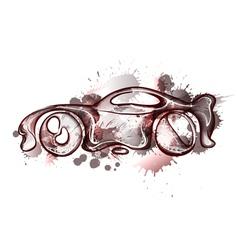 Watercolor concept car vector image
