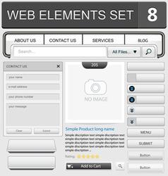 Web elements set 8 vector image