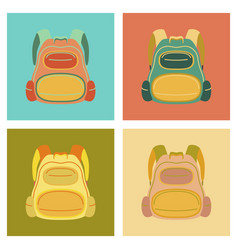 assembly flat icons fashionable bag vector image vector image