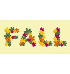 Autumn leaves written texture vector image