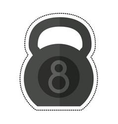 Cartoon kettlebell fitness gym sport vector