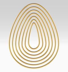 Golden wire egg multicontour vector image vector image