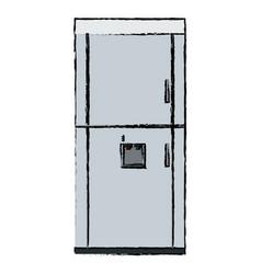Refrigerator freeze modern stainless steel vector
