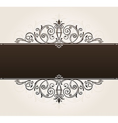 template for text vintage frame decorated with vector image