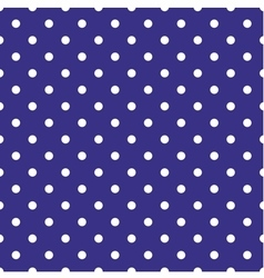 Tile pattern with white polka dots on blue vector image vector image