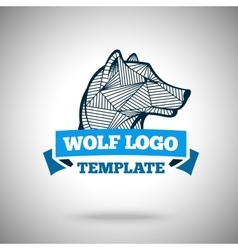 wolf logo template for sport teams vector image