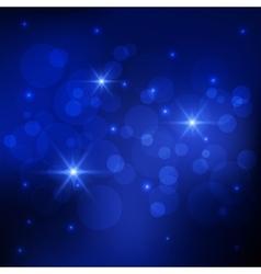 Bokeh deep blue background vector image vector image
