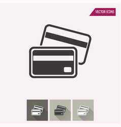 credit card - icon vector image vector image