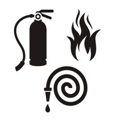Fireman icons vector image