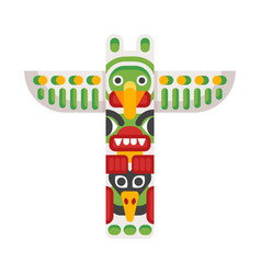 flat style of totem vector image