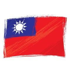 Grunge Taiwan flag vector image vector image