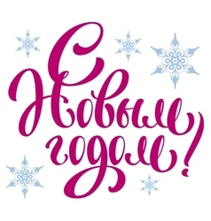 Happy New Year Translation from Russian lettering vector image vector image