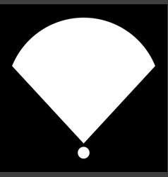 Location or radar the white color icon vector