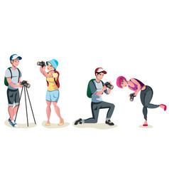 male photographer set vector image