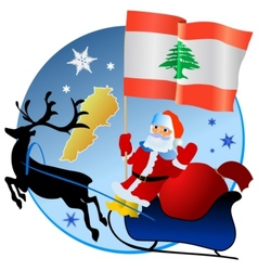 Merry Christmas Lebanon vector image