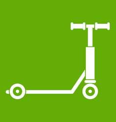 scooter icon green vector image