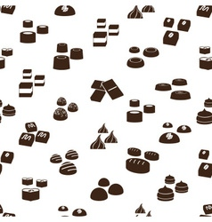 Sweet chocolate truffles icons seamless pattern vector