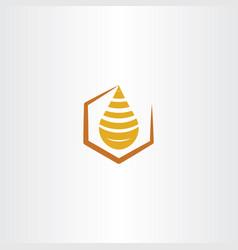 honey drop logo icon vector image