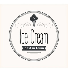 Ice cream vintage retro label vector image vector image