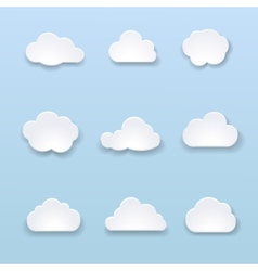 Abstract shape of clouds on blue background vector image vector image