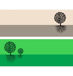 Brown and green nature vector image vector image
