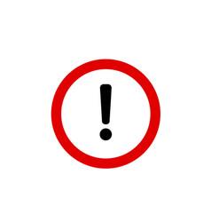 danger icon danger sign vector image