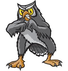 Fighting Owl vector image vector image