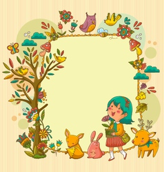 happy nature vector image