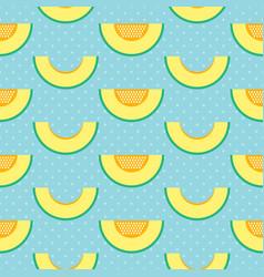 melon slices and polka dots seamless pattern vector image vector image