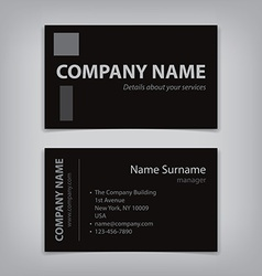 modern business name card abstract template vector image